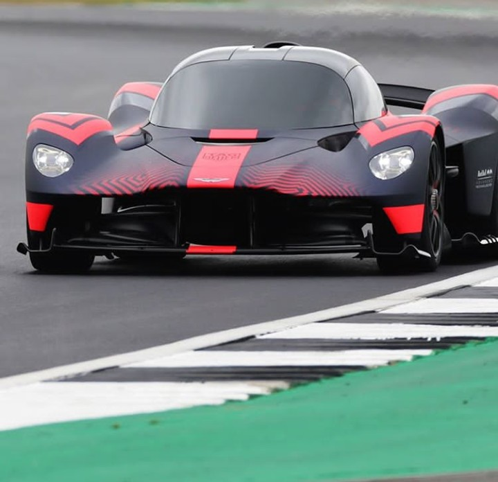 Aston Martin Valkyrie spotted at Silverstoneracetrack