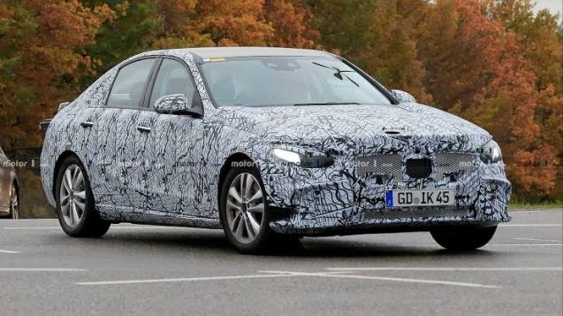 2020 Mercedes Benz C-Class in Camouflage (front)