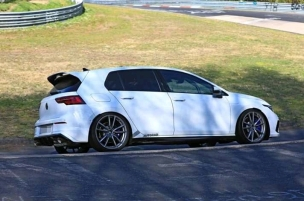 Volkswagen Golf 8 R testing at the Nurburgring