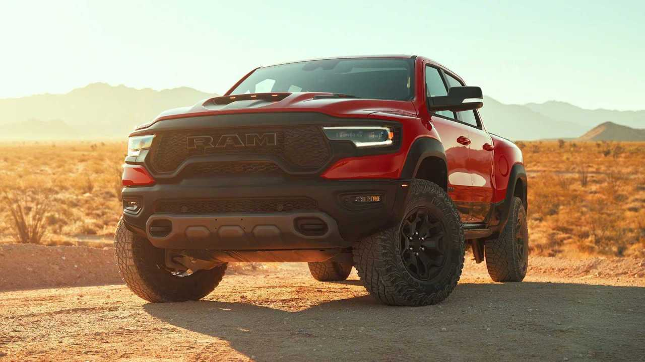 The 'Hellcat-Powered' RAM 1500 TRX Emerges With 700hp