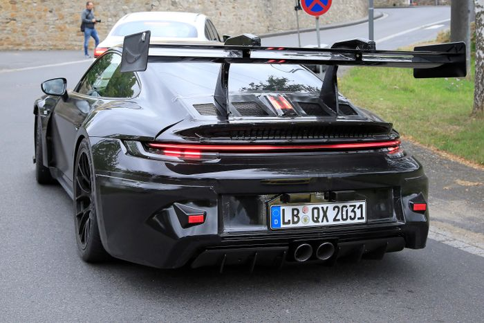 Porsche 911 GT3 RS Prototype Spotted With A Massive Rear Wing